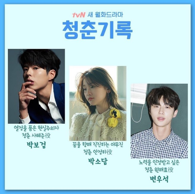 The Moment cast: Park Bo Gum, Park So Dam, Byun Woo-Suk. The Moment Release Date: 25 May (2020). The Moment episodes: 16.