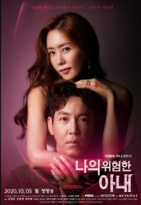 My Dangerous Wife cast: Choi Won Young, Kim Jung Eun, Choi Yoo Hwa. My Dangerous Wife Date: 5 October 2020. My Dangerous Wife Episodes: 16.